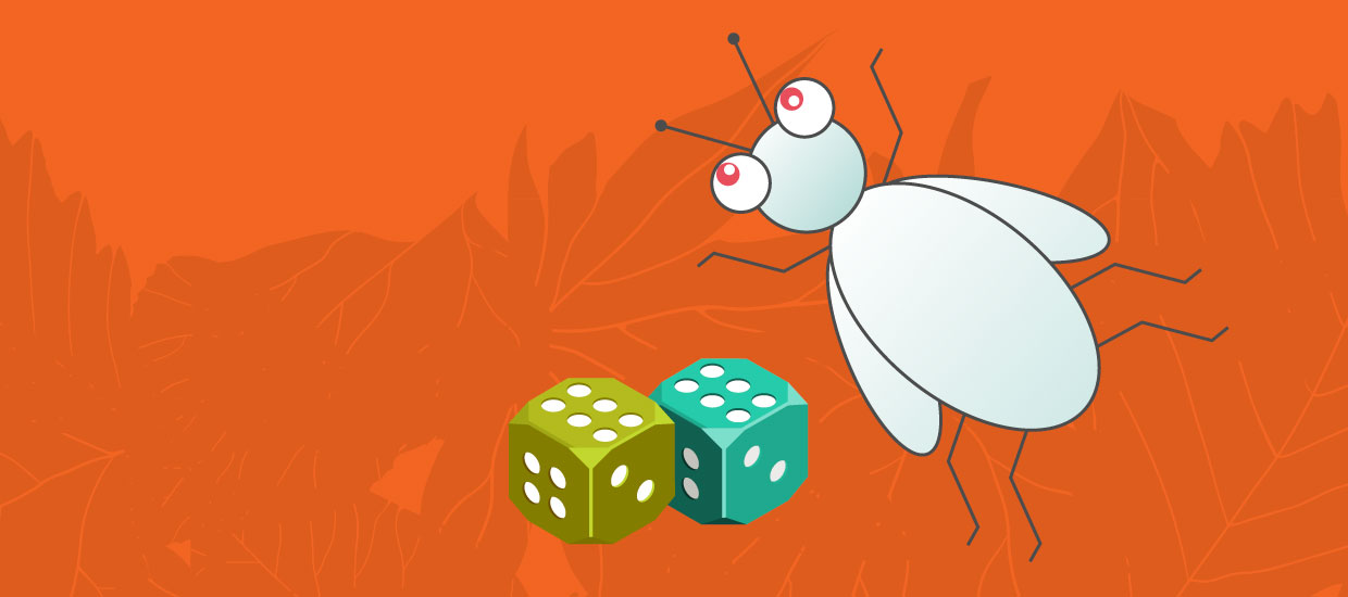 beetle and dice